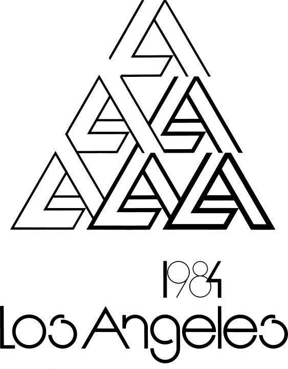 Los Angeles Olympics logo alternative